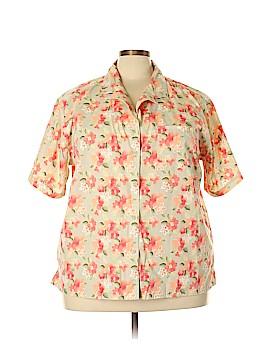 Bobbie Brooks Short Sleeve Button-Down Shirt Size 26W (Plus)