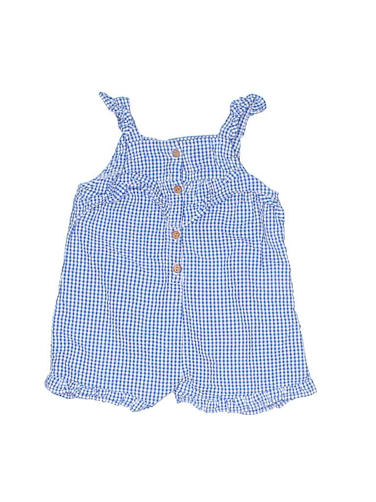f0e3b848bc20 Zara Kids Checkered Gingham Navy Blue Romper Size 9-12 mo - 67% off ...