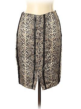 Zara W&B Collection Silk Skirt Size L