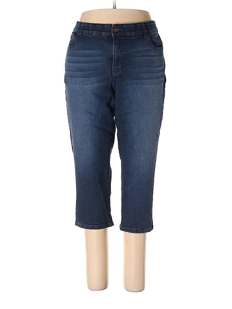 b8e17b5455f Terra   Sky Solid Blue Jeans Size 16 - 70% off