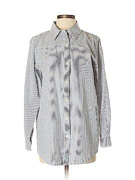 Joan Rivers Long Sleeve Button-Down Shirt Size S