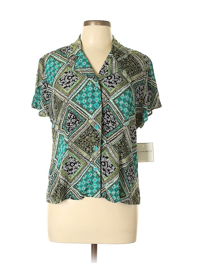 Sag Harbor Women Short Sleeve Blouse Size 10