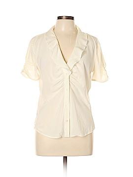 Armani Collezioni Short Sleeve Silk Top Size 12