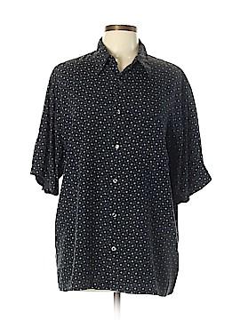 Claiborne Short Sleeve Button-Down Shirt Size L
