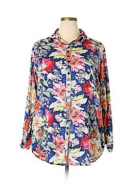 S.R. Fashion Long Sleeve Button-Down Shirt Size XXL