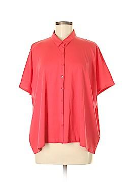 Eileen Fisher Short Sleeve Button-Down Shirt Size M