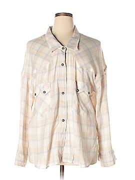 Faith Connexion Long Sleeve Button-Down Shirt Size L