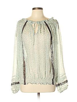 La Rok Long Sleeve Silk Top Size L