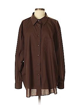 Foxcroft Long Sleeve Button-Down Shirt Size 22W (Plus)