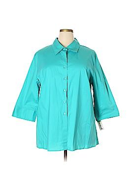 Gemilli Long Sleeve Button-Down Shirt Size 3X (Plus)
