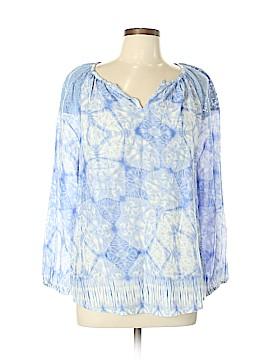 Vintage America Blues Long Sleeve Blouse Size L