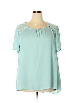 Janette Plus Short Sleeve Blouse Size 2X (Plus)