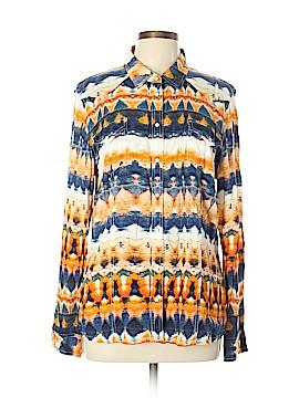 Nine West Vintage America Long Sleeve Button-Down Shirt Size L