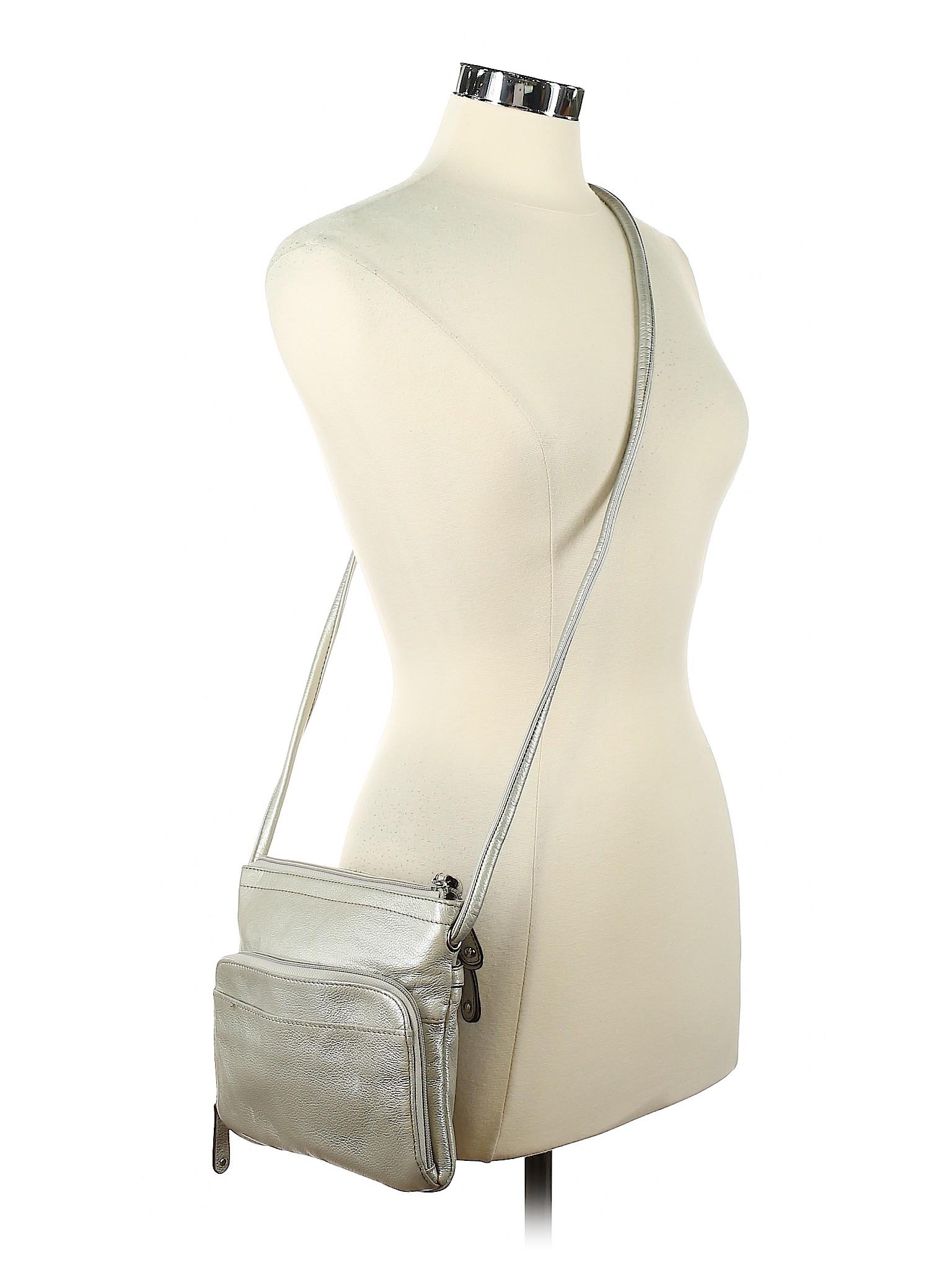 fbea65b034 Clarks Metallic Silver Crossbody Bag One Size - 91% off   thredUP