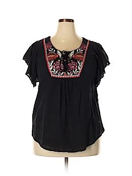 Style&Co Short Sleeve Blouse Size 0X (Plus)