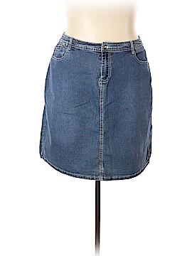 Baccini Denim Skirt Size 18 (Plus)