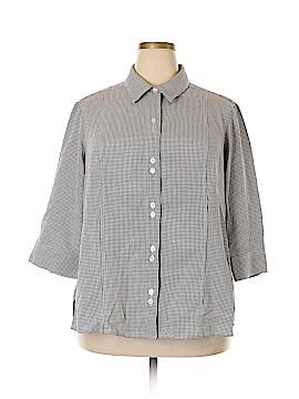 Cj Banks 3/4 Sleeve Button-Down Shirt Size 2X (Plus)
