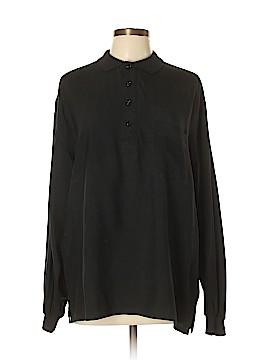 Go Silk Long Sleeve Silk Top Size L