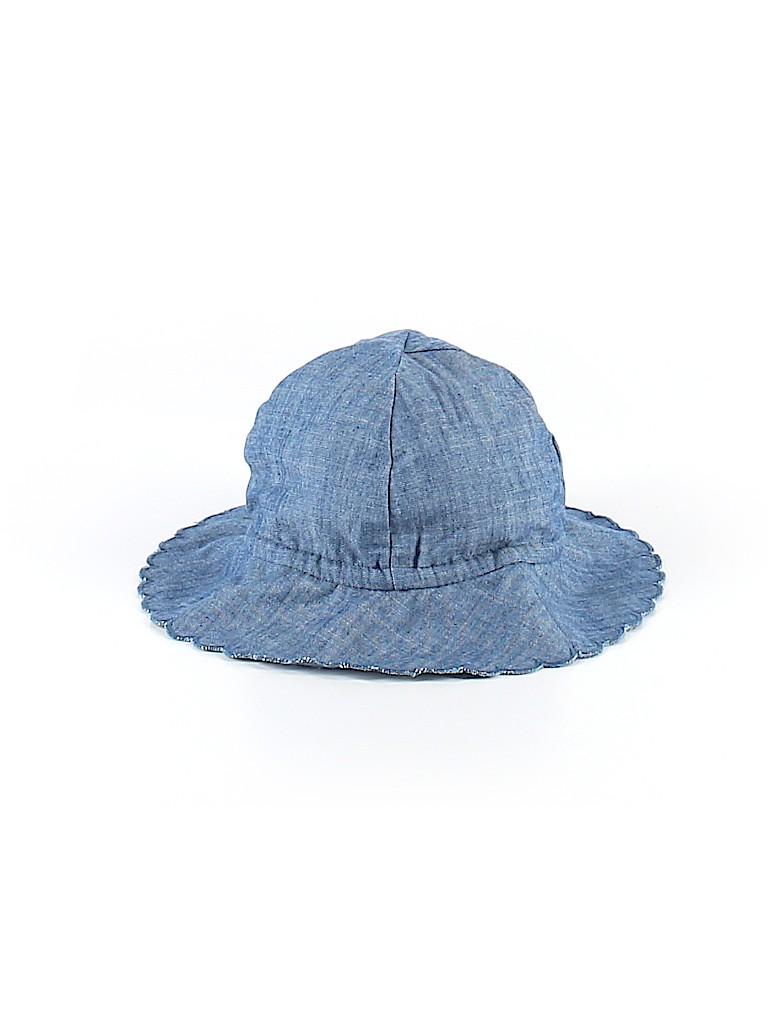 Baby Gap 100% Cotton Chambray Navy Blue Sun Hat Newborn - 6 mo - 40 ... 723a228ae22