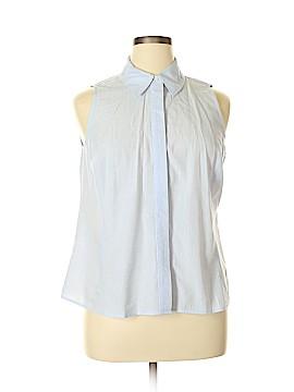 Lane Bryant Sleeveless Button-Down Shirt Size 14 Plus (1) (Plus)