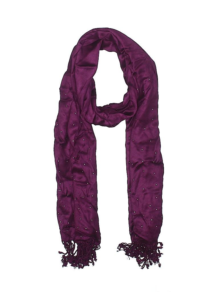 8e9b1e4f0f White House Black Market 100% Rayon Solid Dark Purple Scarf One Size ...