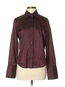 Faconnable Long Sleeve Silk Top Size M