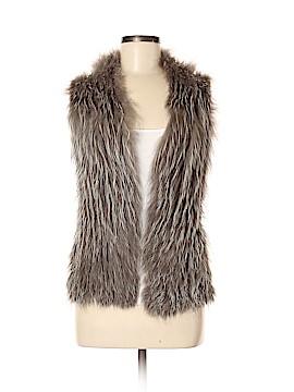 Isaac Mizrahi Faux Fur Vest Size M