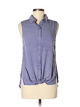 Mittoshop Sleeveless Button-Down Shirt Size S