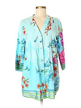 Soft Surroundings 3/4 Sleeve Button-Down Shirt Size M (Petite)