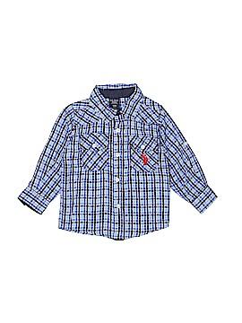U.S. Polo Assn. Long Sleeve Button-Down Shirt Size 18 mo