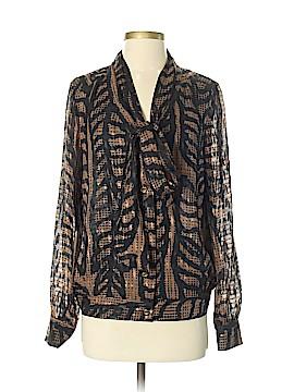 Tory Burch Long Sleeve Silk Top Size 4