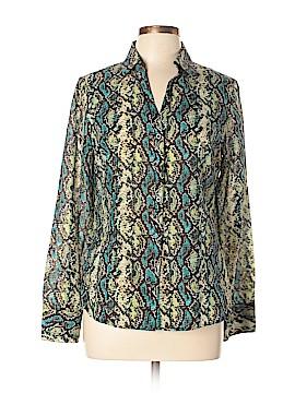 Peck & Peck Long Sleeve Button-Down Shirt Size 10