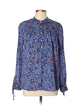 Ann Taylor LOFT Long Sleeve Button-Down Shirt Size L