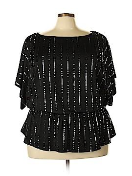 Alex Evenings Short Sleeve Blouse Size 3X (Plus)