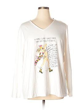 Basic Editions Long Sleeve T-Shirt Size 2X (Plus)