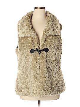 Dots Faux Fur Vest Size XL