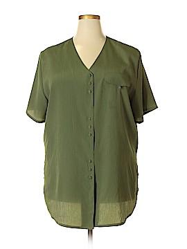 Kathie Lee Short Sleeve Blouse Size 20 (Plus)