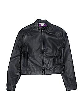 KC Parker Faux Leather Jacket Size 10 - 12