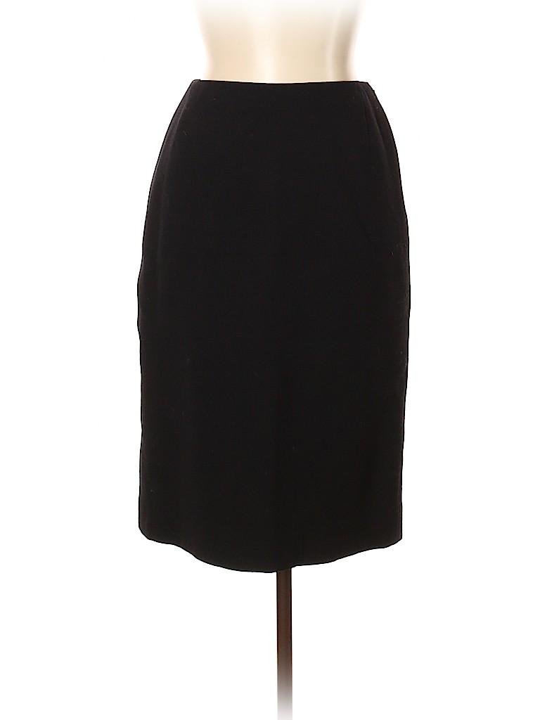 Oscar De La Renta Women Wool Skirt Size 10