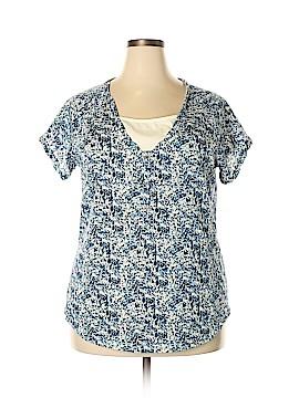 Northcrest Short Sleeve Blouse Size 1X (Plus)