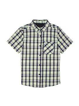Hurley Short Sleeve Button-Down Shirt Size M (Kids)