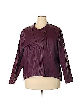 Kate & Mallory designs Faux Leather Jacket Size 2X (Plus)