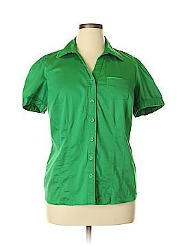 Lane Bryant Short Sleeve Button-Down Shirt Size 14 - 16