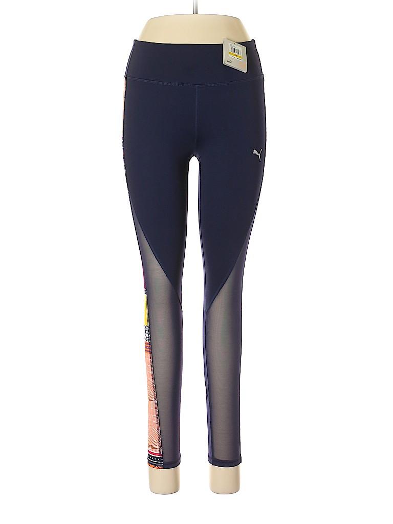86ad2274c39d Puma 100% Polyester Stripes Color Block Dark Blue Active Pants Size ...