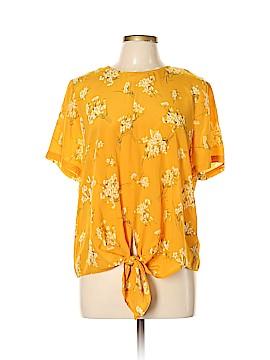 Madewell Short Sleeve Silk Top Size XL