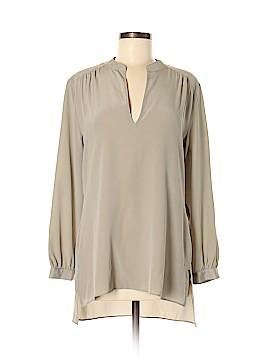 Acrobat Long Sleeve Silk Top Size M