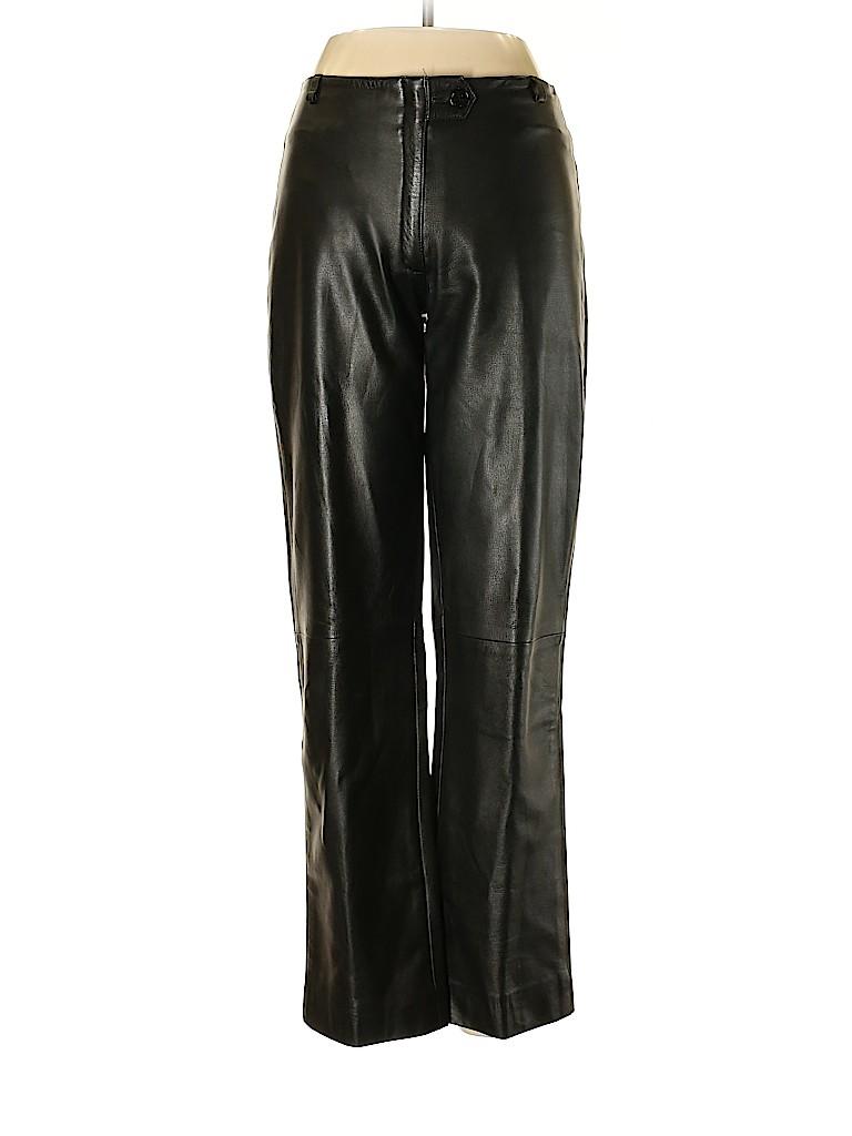 Krizia Women Leather Pants Size 42 (EU)