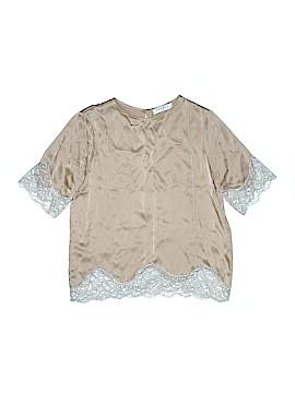 Sandro Short Sleeve Silk Top Size 1