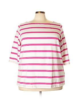 Ellos 3/4 Sleeve T-Shirt Size 2X (Plus)