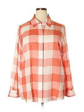 Lane Bryant Long Sleeve Button-Down Shirt Size 20 - 18 Plus (Plus)